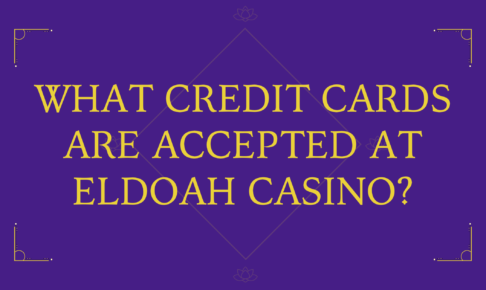 What credit cards are accepted at ELDOAH Casino?